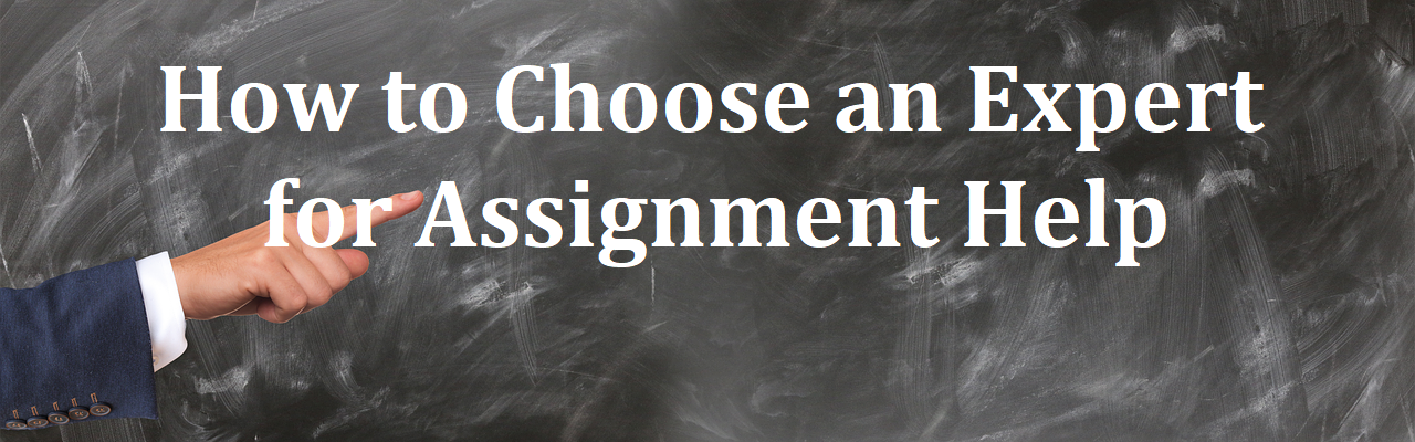 How to Choose an Expert for Assignment Help